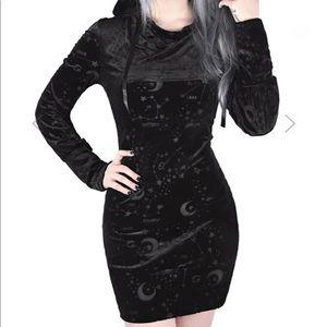 Killstar rare sold out Galatea hooded tunic dress